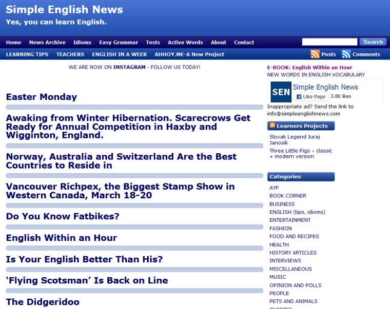 ACE - simple english news 1